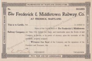 F&M Stock Certificate
