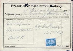 1899 Waybill for Fertilizer