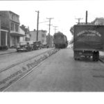 Scholes photograph of #1 traveling 5th Street in Frederick
