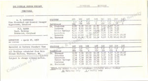 1952 Timetable