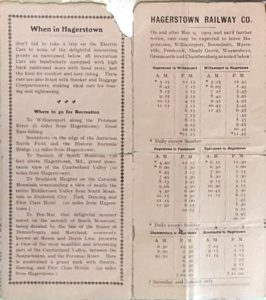HRY Timetable 1909